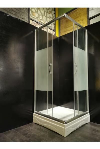 Mona Stone Duş Teknesi ve Desenli Duşabin 90 x 90 cm