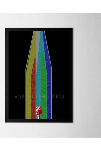 Polnight Galaksi Çerçeveli Poster Seti 21x30 cm