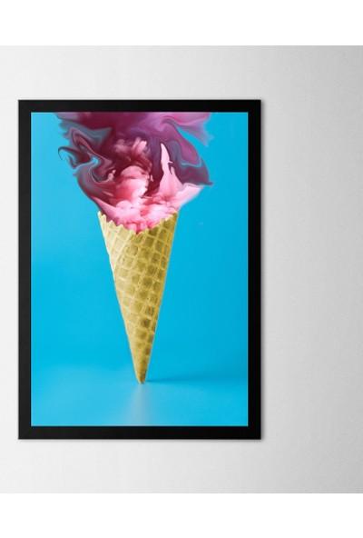 Polnight Pembe Duman Çerçeveli Poster Seti 21x30 cm