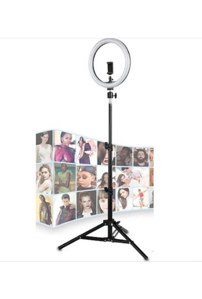 "Saywin Youtuber Led Tripod Video Selfie Stüdyo Makyaj Işığı 12"" Halka Işık"