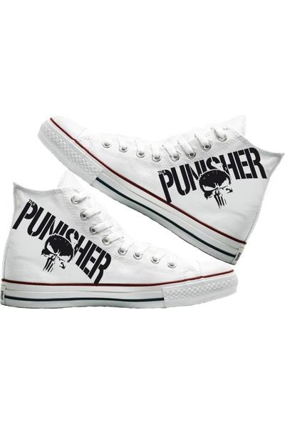 Art Fashion Punisher Baskılı Unisex Canvas Ayakkabı