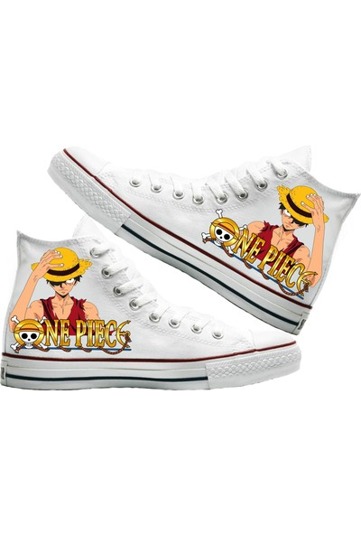 Art Fashion Monkey D. Luffy Baskılı Unisex Canvas Ayakkabı