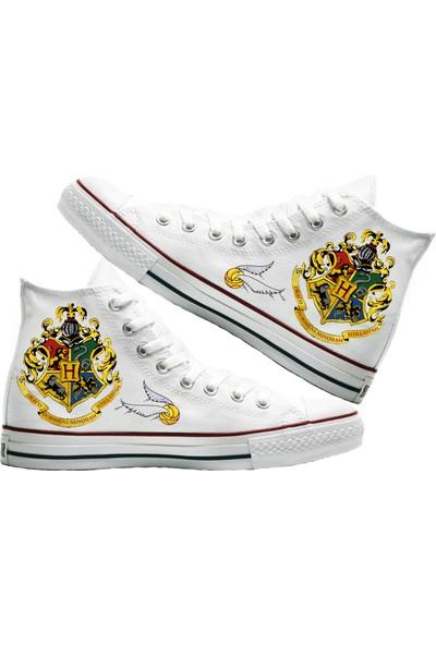 Art Fashion Hogwarts Baskılı Unisex Canvas Ayakkabı