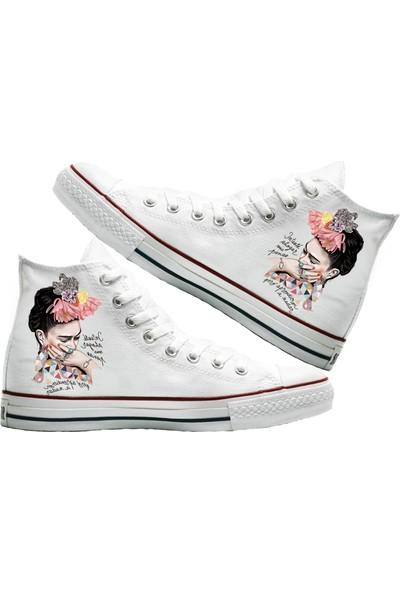 Art Fashion Frida Baskılı Unisex Canvas Ayakkabı