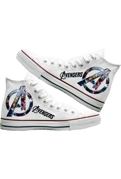 Art Fashion Avengers Baskılı Unisex Canvas Ayakkabı