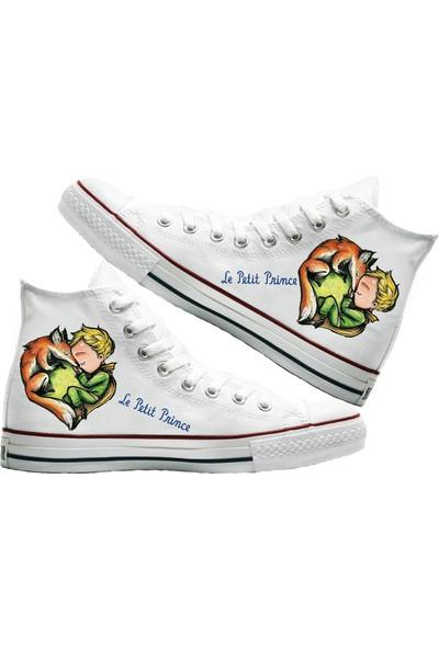 Art Fashion Küçük Prens Baskılı Unisex Canvas Ayakkabı