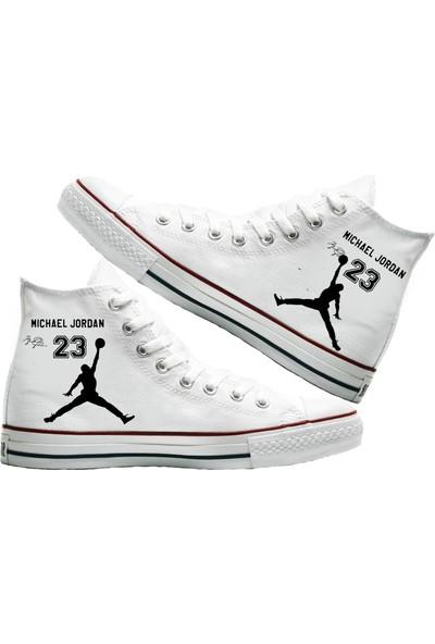 Art Fashion MJ 23 Baskılı Unisex Canvas Ayakkabı