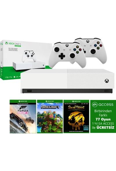 Microsoft Xbox One S 1TB All-Digital Edition Oyun Konsolu + 3 Oyun + 2 Kol + 1 Yıllık EA Access