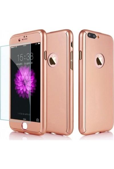 Efsunkar Apple iPhone 7 Plus Kılıf Full Tam Kaplayan Tam Koruma Kap Kılıf - Rose Gold