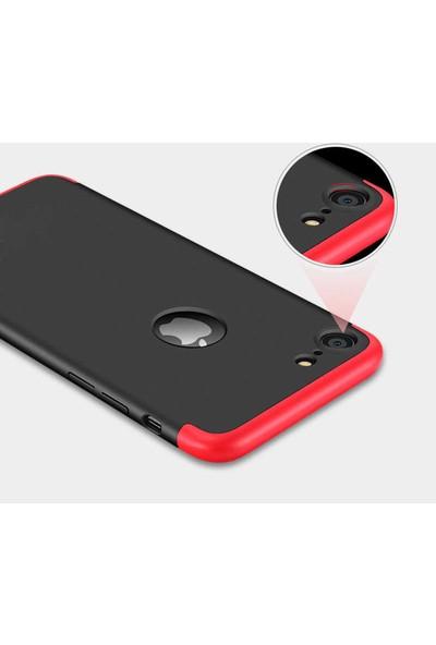 Efsunkar Apple iPhone 6S Ultra Lüx Görünümlü 360 Full Tam Kaplayan Kap Kılıf - Kırmızı