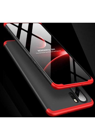 Efsunkar Huawei Mate 20 Lite Ultra Lüx Görünümlü 360 Full Tam Kaplayan Kap Kılıf - Kırmızı