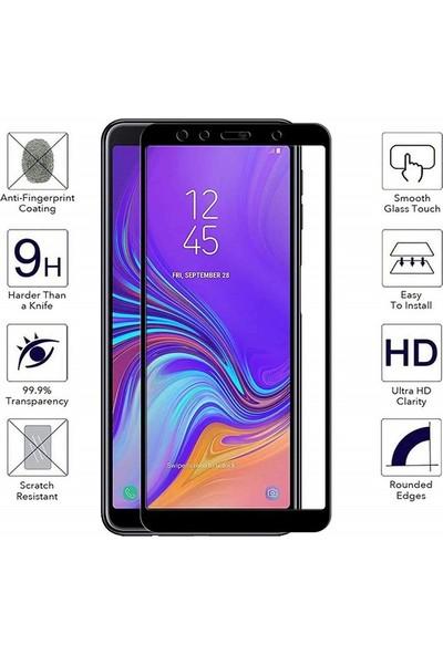 Engo Samsung Galaxy A7 2018 5D Temperli 9H Tam Kaplama Ekran Koruyucu