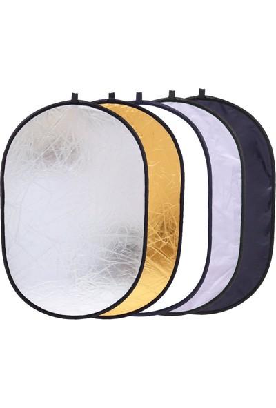 Soundizayn Reflektör 120 x 180 cm 5 In 1 Işık Yansıtıcı Altın - Gümüş - Beyaz - Siyah - Soft