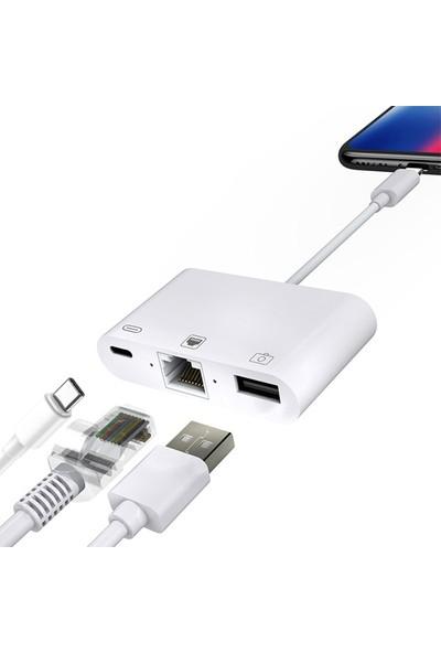 Ally Type-C 3in1 Ethernet ve Kamera Adaptörü AL-31463