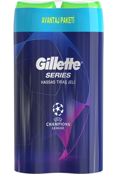 Gillette Series Jel 2x200 ml Champions Edition