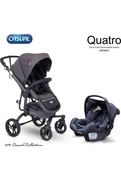 Casual Quatro Trona Travel Sistem Bebek Arabası - Antrasit