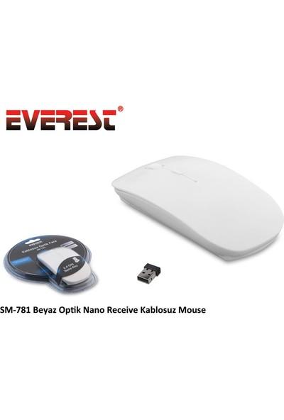 Everest SM-781 Kablosuz Beyaz Mouse