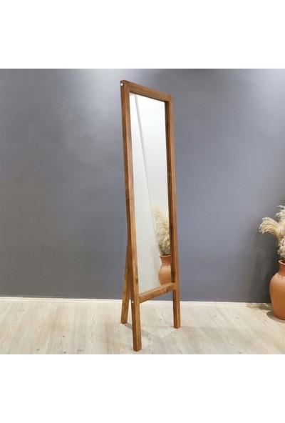 NeoStill Boy Aynası Masif Doğal Ahşap Ceviz 55 x 170 cm