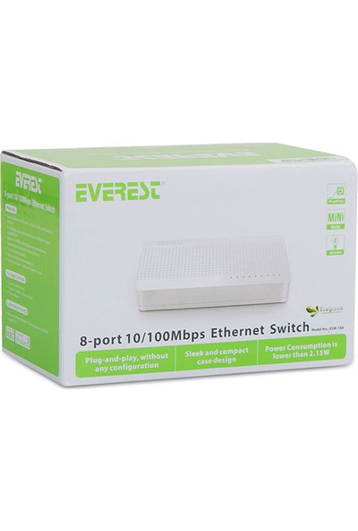 Everest Esw-108 8 Port 10/100Mbps Ethernet Switch Hub