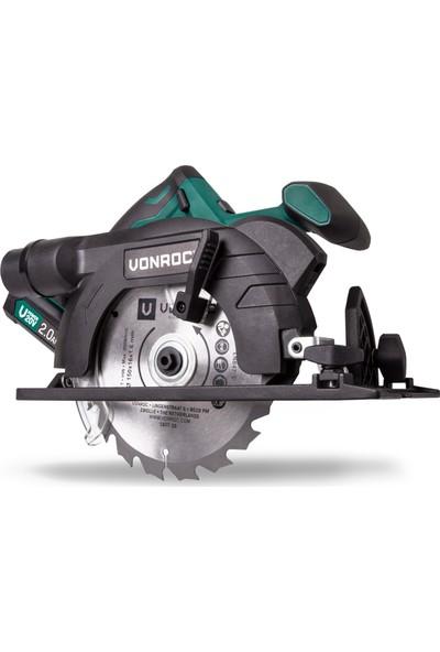 VONROC Vpower 20V Akülü Daire/Sunta Kesme Testere - 150 mm - 1x 2.0Ah