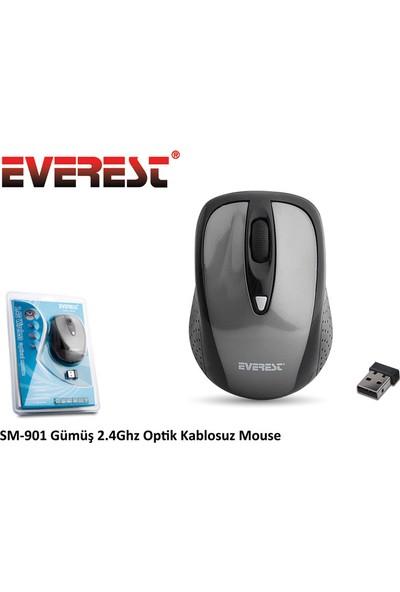 Everest SM-901 Gri 2.4Ghz Optik Kablosuz Mouse