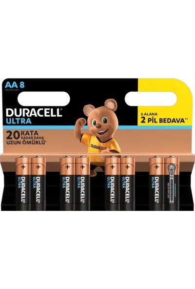 Duracell Ultra Alkalin AA Kalem Pil 8'li Paket