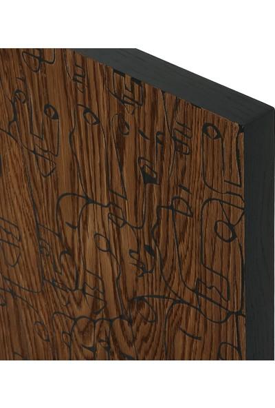 Glam Faceline İkili Ahşap Tablo 45 x 95 cm