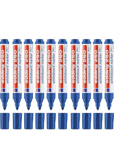 Eddıng Beyaz Tahta Kalemi E-260 Mavi 10 Lu
