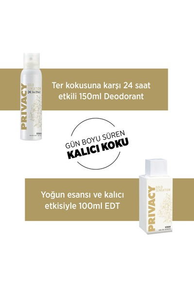 Privacy Gold Woman EDT Parfüm 100ml + Deodorant 150ml