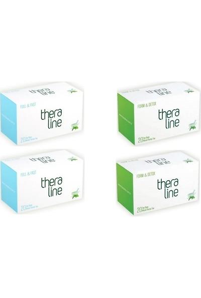 Theraline Full&fast ( Fullfast ) Bitki Çayı (2 Kutu) + Theraline Form Detox Bitki Çayı (2 Kutu) + Giftpoint Ayaklı Buzdolabı Magnetli Resim Çerçevesi