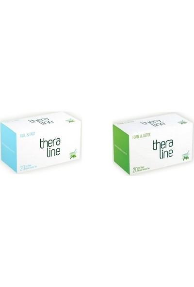 Theraline Full&fast ( Tok Tutucu Özellikte ) Bitki Çayı (1 Kutu) + Theraline Form Detox Bitkisel Çay (1 Kutu) + Giftpoint Ayaklı Buzdolabı Magnetli Resim Çerçevesi
