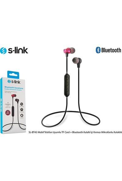 S-Link SL-BT45 Kulakiçi Bluetooth Mikrofonlu Kulaklık