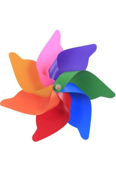 Sevimliev Kanatlı Renkli Büyük Rüzgar Gülü Çap 75 cm