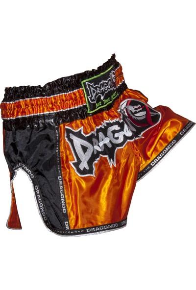 Dragon Retro Muay Thai Şortu - Turuncu