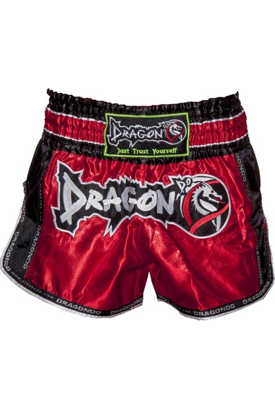 Dragon Retro Muay Thai Şortu - Kırmızı