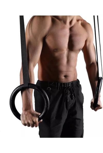 Leyaton Jimnastik Halkası Jimnastik Barfiks Halkası Halatı Halka Çapı 24 Cm,siyah