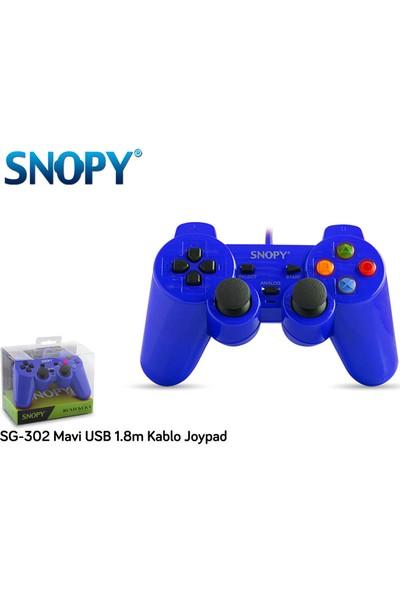 Snopy SG-302 Mavi USB 1.8m Kablo Joypad