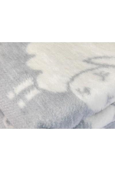 English Home Little Lamb Pamuklu Bebe Battanıye 100X120 Cm Gri
