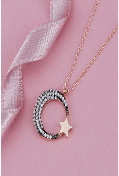 Tubiss Ay Yıldız Gümüş Kolye