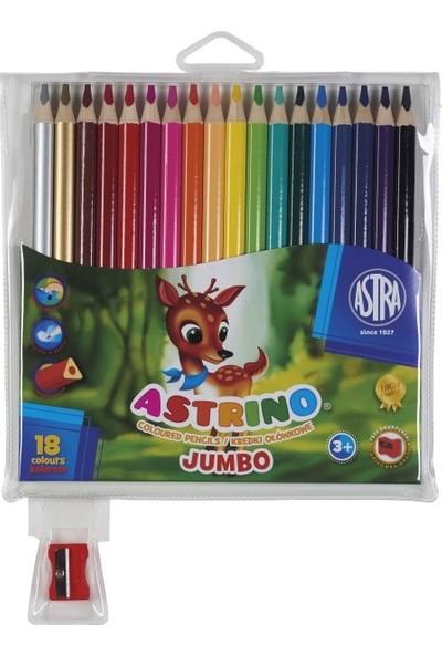 Astra Üçgen Jumbo Tam Boy Kuru Boya 18 Renk
