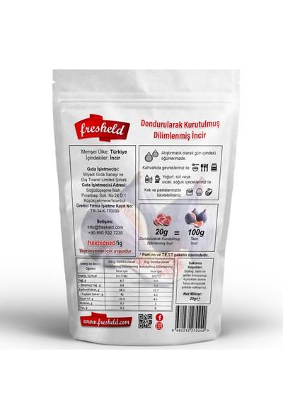 Fresheld Dondurularak Kurutulmuş Dilimlenmiş Incir 20G