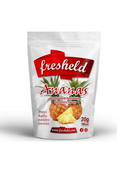 Fresheld Dondurularak Kurutulmuş Dilimlenmiş Ananas 15G