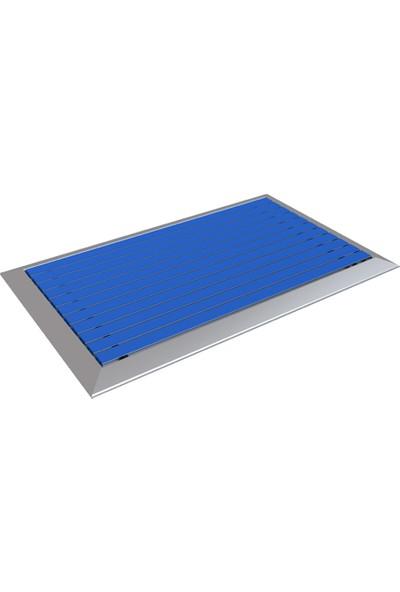 Arfen 40X70 Kauçuk Üst Yüzeyli Alüminyum Paspas - Mavi