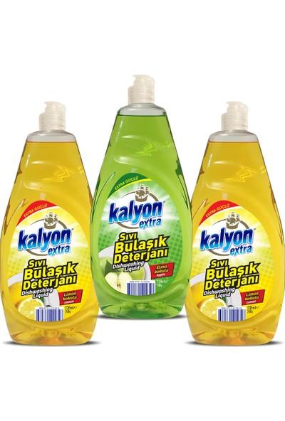 Kalyon Extra Sıvı Bulaşık Deterjanı - 2 Adet Limon - Elma 735 ml