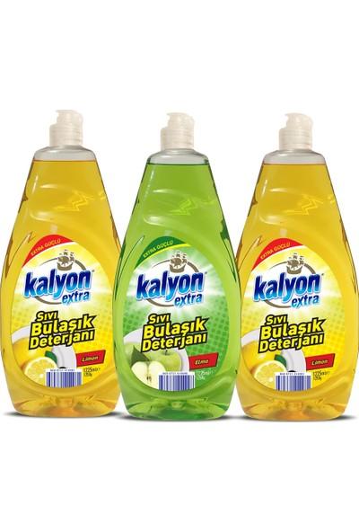 Kalyon Extra Sıvı Bulaşık Deterjanı - 2 Adet Limon - Elma 1225 ml