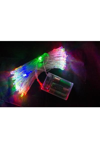 Hobimtek Peri LED 10 m Işık Pilli Dekoratif 90 Adet LED Rgb