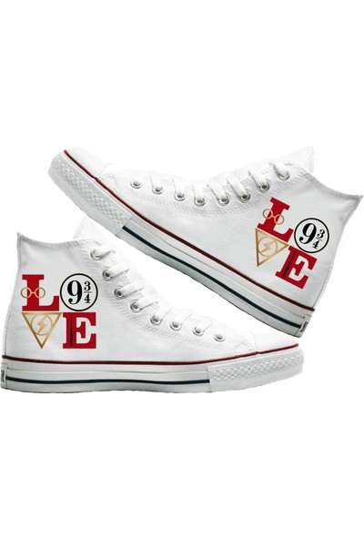 Art Fashion Harry Love Baskılı Unisex Canvas Ayakkabı