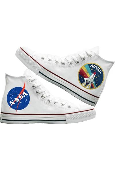 Art Fashion Nasa Baskılı Unisex Canvas Ayakkabı