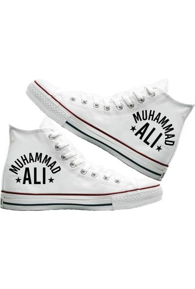 Art Fashion Muhammad Ali Baskılı Unisex Canvas Ayakkabı