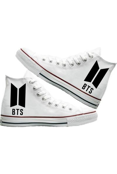Art Fashion BTS Baskılı Unisex Canvas Ayakkabı